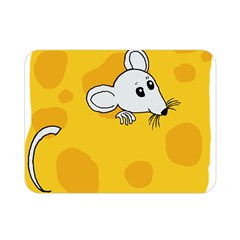 Rat Mouse Cheese Animal Mammal Double Sided Flano Blanket (mini)