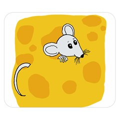 Rat Mouse Cheese Animal Mammal Double Sided Flano Blanket (small)