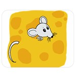 Rat Mouse Cheese Animal Mammal Double Sided Flano Blanket (Medium)  60 x50 Blanket Front