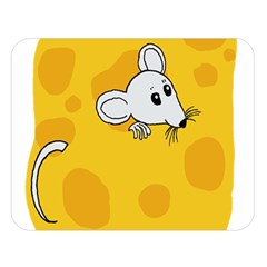 Rat Mouse Cheese Animal Mammal Double Sided Flano Blanket (large)