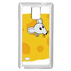 Rat Mouse Cheese Animal Mammal Samsung Galaxy Note 4 Case (white)