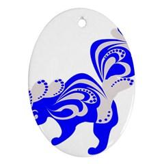 Skunk Animal Still From Ornament (oval)