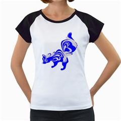 Skunk Animal Still From Women s Cap Sleeve T