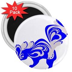 Skunk Animal Still From 3  Magnets (10 Pack)