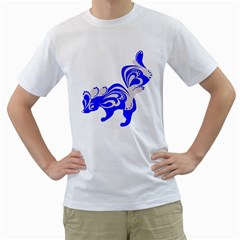 Skunk Animal Still From Men s T Shirt (white) (two Sided)