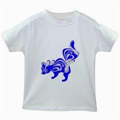 Skunk Animal Still From Kids White T Shirts