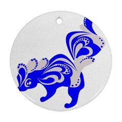 Skunk Animal Still From Round Ornament (two Sides)