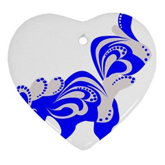 Skunk Animal Still From Heart Ornament (two Sides)