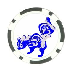 Skunk Animal Still From Poker Chip Card Guard