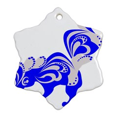 Skunk Animal Still From Snowflake Ornament (two Sides)