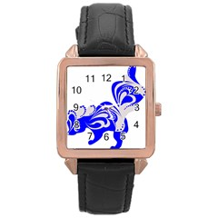 Skunk Animal Still From Rose Gold Leather Watch