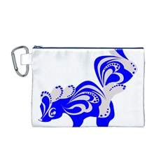 Skunk Animal Still From Canvas Cosmetic Bag (m)