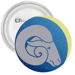 Ram Zodiac Sign Zodiac Moon Star 3  Buttons
