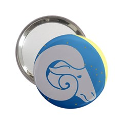 Ram Zodiac Sign Zodiac Moon Star 2 25  Handbag Mirrors