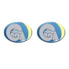 Ram Zodiac Sign Zodiac Moon Star Cufflinks (oval)