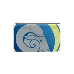 Ram Zodiac Sign Zodiac Moon Star Cosmetic Bag (small)