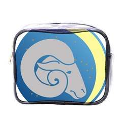 Ram Zodiac Sign Zodiac Moon Star Mini Toiletries Bags