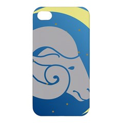 Ram Zodiac Sign Zodiac Moon Star Apple Iphone 4/4s Hardshell Case