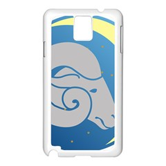 Ram Zodiac Sign Zodiac Moon Star Samsung Galaxy Note 3 N9005 Case (white)