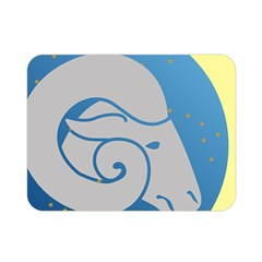 Ram Zodiac Sign Zodiac Moon Star Double Sided Flano Blanket (mini)