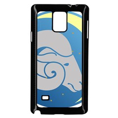 Ram Zodiac Sign Zodiac Moon Star Samsung Galaxy Note 4 Case (black)