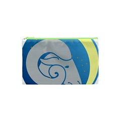 Ram Zodiac Sign Zodiac Moon Star Cosmetic Bag (xs)