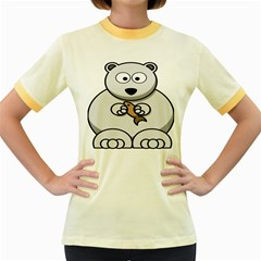 Bear Polar Bear Arctic Fish Mammal Women s Fitted Ringer T Shirts