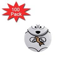 Bear Polar Bear Arctic Fish Mammal 1  Mini Magnets (100 Pack)