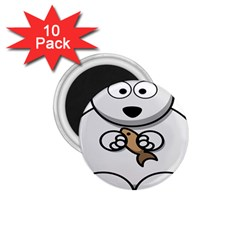 Bear Polar Bear Arctic Fish Mammal 1 75  Magnets (10 Pack)