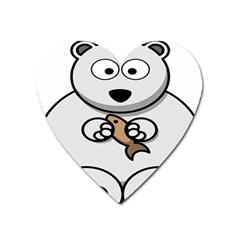 Bear Polar Bear Arctic Fish Mammal Heart Magnet