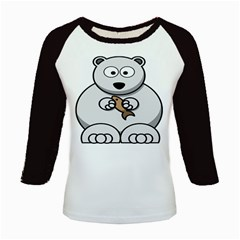 Bear Polar Bear Arctic Fish Mammal Kids Baseball Jerseys