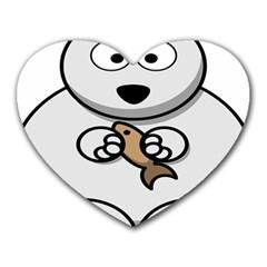 Bear Polar Bear Arctic Fish Mammal Heart Mousepads