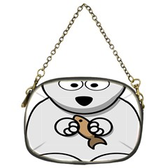 Bear Polar Bear Arctic Fish Mammal Chain Purses (one Side)