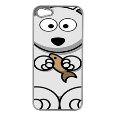 Bear Polar Bear Arctic Fish Mammal Apple Iphone 5 Case (silver)
