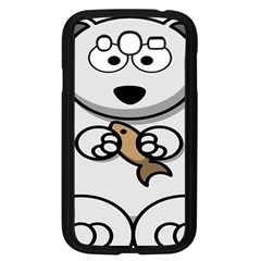 Bear Polar Bear Arctic Fish Mammal Samsung Galaxy Grand Duos I9082 Case (black)