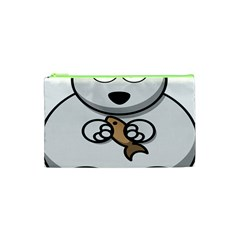 Bear Polar Bear Arctic Fish Mammal Cosmetic Bag (xs)