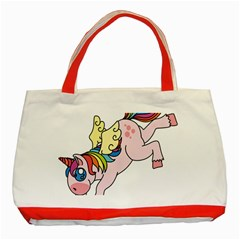 Unicorn Arociris Raimbow Magic Classic Tote Bag (red)