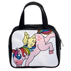 Unicorn Arociris Raimbow Magic Classic Handbags (2 Sides)