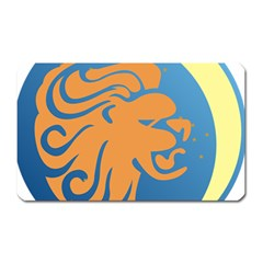 Lion Zodiac Sign Zodiac Moon Star Magnet (rectangular)