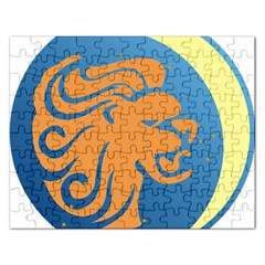 Lion Zodiac Sign Zodiac Moon Star Rectangular Jigsaw Puzzl