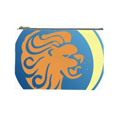 Lion Zodiac Sign Zodiac Moon Star Cosmetic Bag (large)