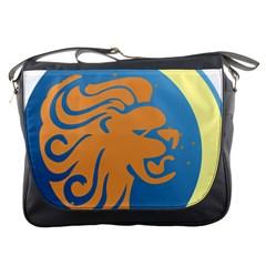 Lion Zodiac Sign Zodiac Moon Star Messenger Bags