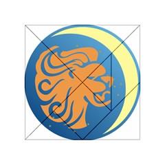 Lion Zodiac Sign Zodiac Moon Star Acrylic Tangram Puzzle (4  X 4 )