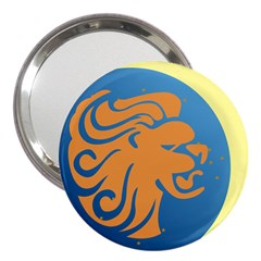 Lion Zodiac Sign Zodiac Moon Star 3  Handbag Mirrors