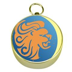 Lion Zodiac Sign Zodiac Moon Star Gold Compasses