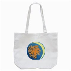Lion Zodiac Sign Zodiac Moon Star Tote Bag (white)