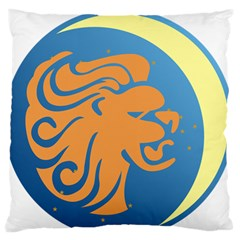 Lion Zodiac Sign Zodiac Moon Star Large Flano Cushion Case (two Sides)