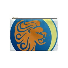 Lion Zodiac Sign Zodiac Moon Star Cosmetic Bag (medium)