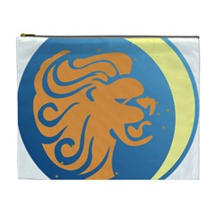 Lion Zodiac Sign Zodiac Moon Star Cosmetic Bag (xl)