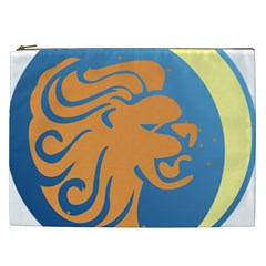 Lion Zodiac Sign Zodiac Moon Star Cosmetic Bag (xxl)